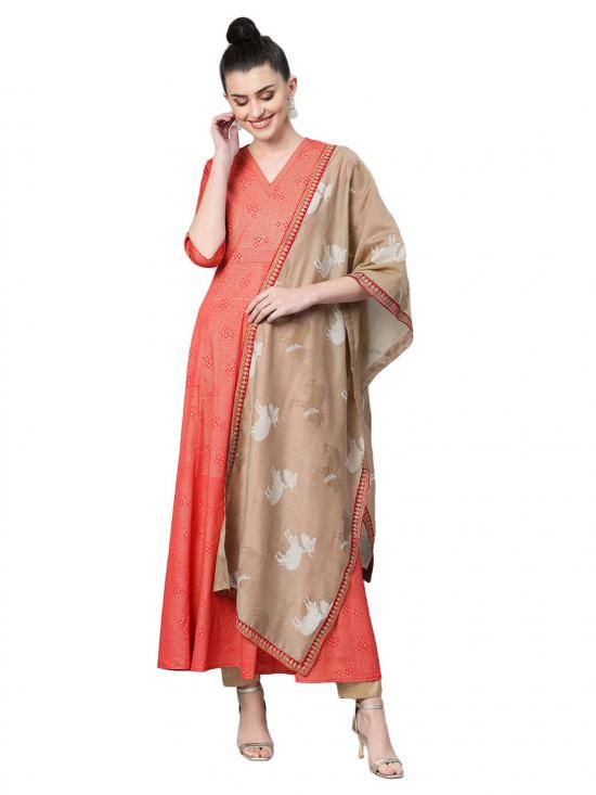Women Anarkali Kurta with Dupatta Set