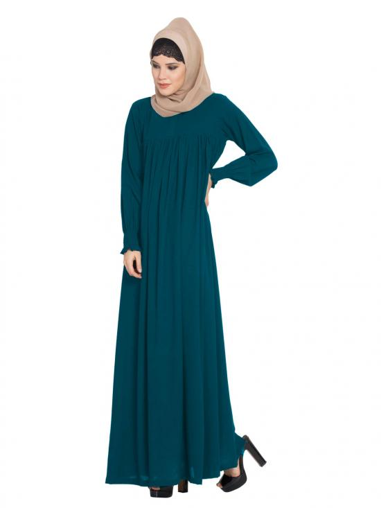 Abaya in Nida Matte with a Perfect Balance in Teal