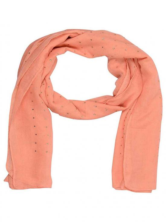 Stole for Women Cotton Diamond Stole Orange