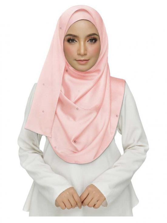 Stole for Women - Cotton Plain Stole - Pink