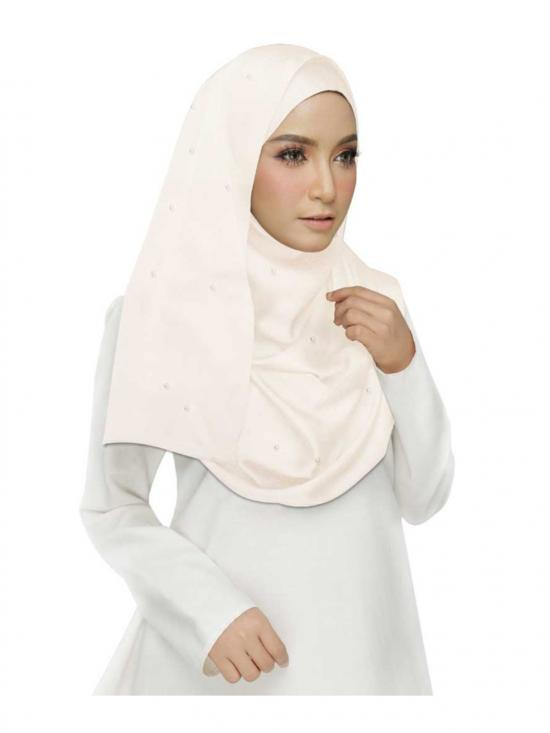 Stole for Women - Cotton Plain Stole - White