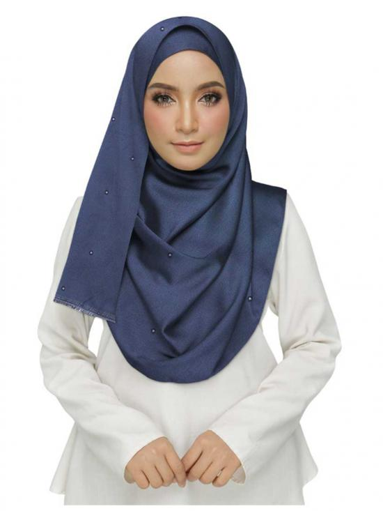 Cotton Plain Stole In Blue