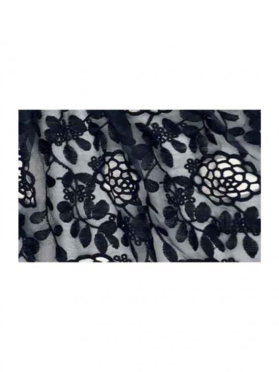 Stole for Women Designer Cotton Half Net Stole Blue