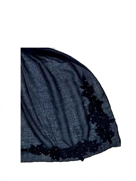 Stole for Women Most Sold Designer Diamond Studed Stole Blue