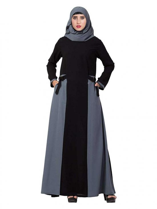 Mushkiya Nida Matte Abaya With Pockets