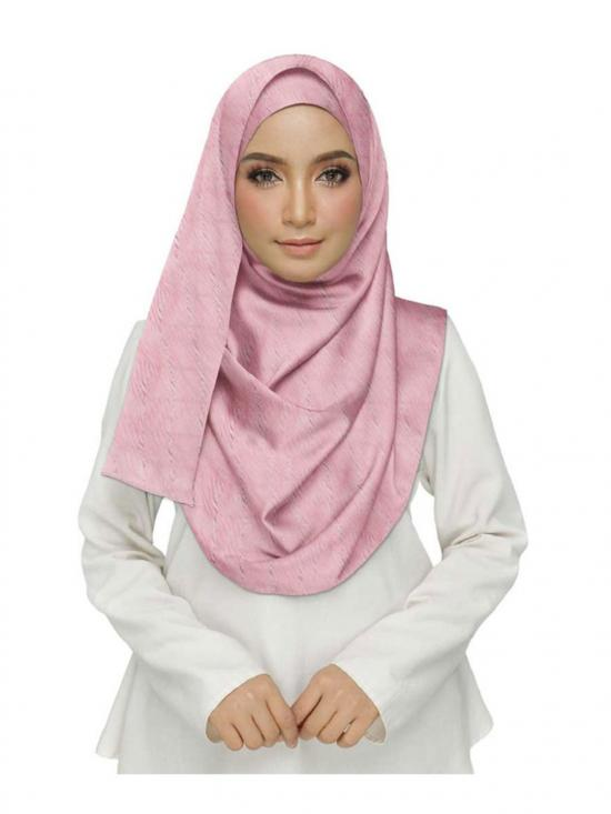 Crush Cotton Designer Diamond Studed Stole In Pink