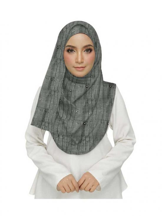 Stole For Women Premium Cotton Crush Stole in Grey