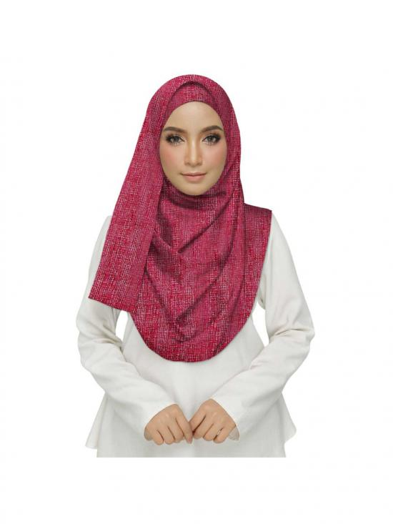 Premium Cotton Plain Hijab In Maroon