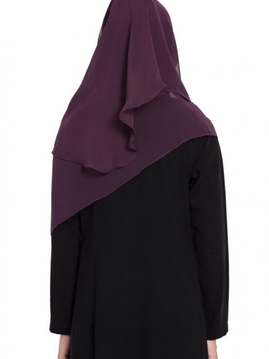 Super Fine Georgette Ready to Wear Instant Hijab in purple