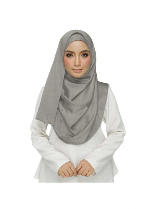 Premium Cotton Plain Hijab Dark In Grey