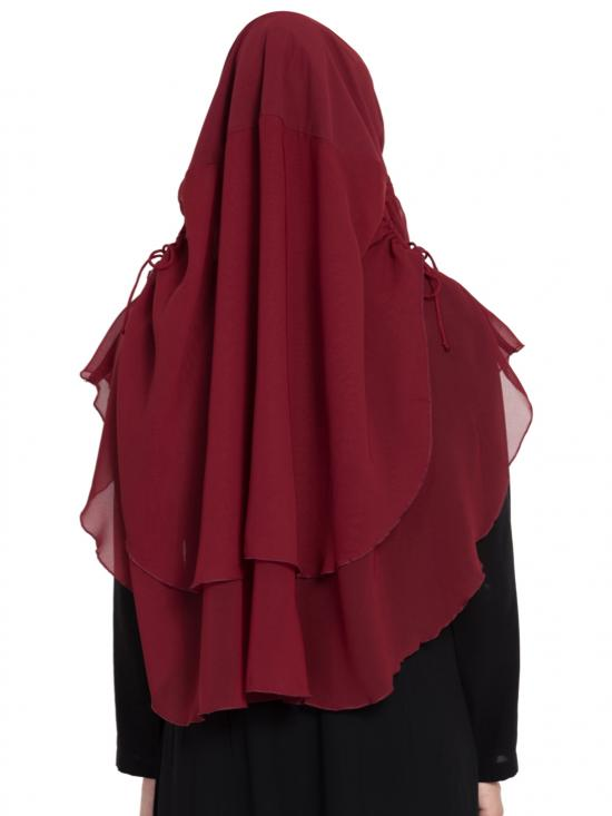 Khimar Nida Matte Ready To Wear Instant Hijabs In  Maroon
