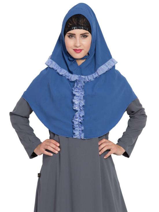 Khimar Nida Matte Ready To Wear Instant Hijabs In True Blue