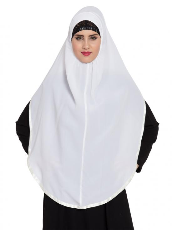 Khimar Nida Matte Ready To Wear Instant Hijabs In  White