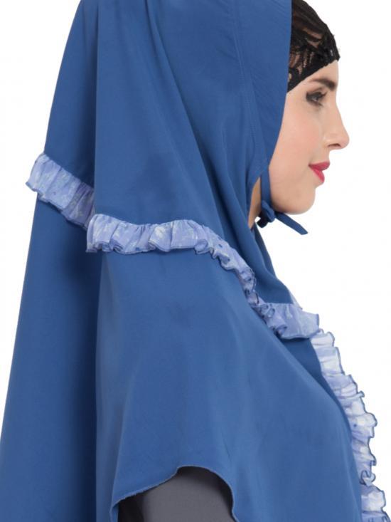 Khimar Nida Matte Ready To Wear Instant Hijabs In True Blue