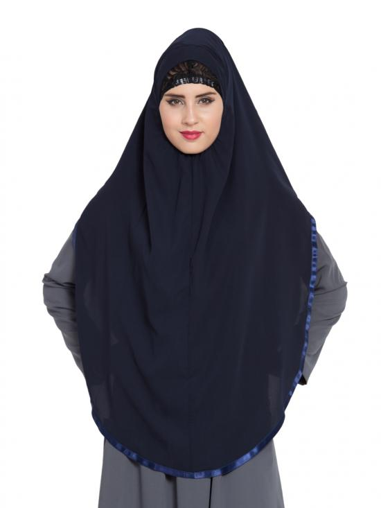 Khimar Nida Matte Ready To Wear Instant Hijabs In Navy Blue