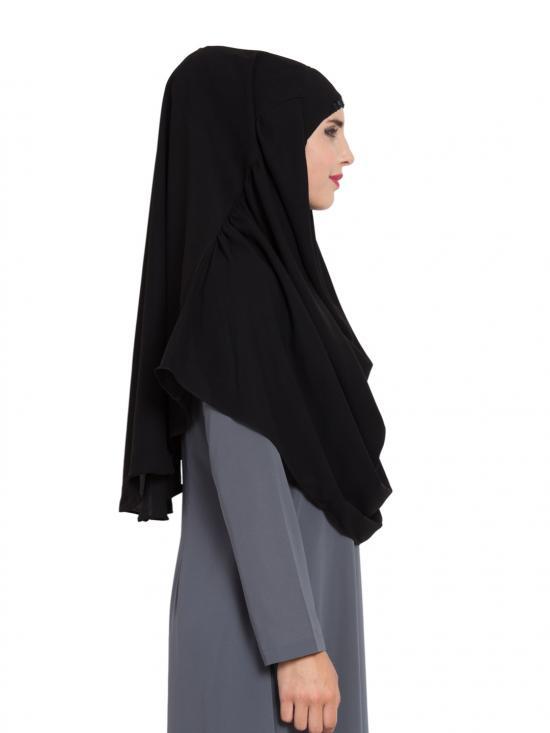 Khimar Nida Matte Ready To Wear Instant Hijabs In Black