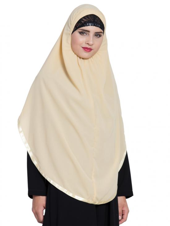 Khimar Nida Matte Ready To Wear Instant Hijabs In  Fawn