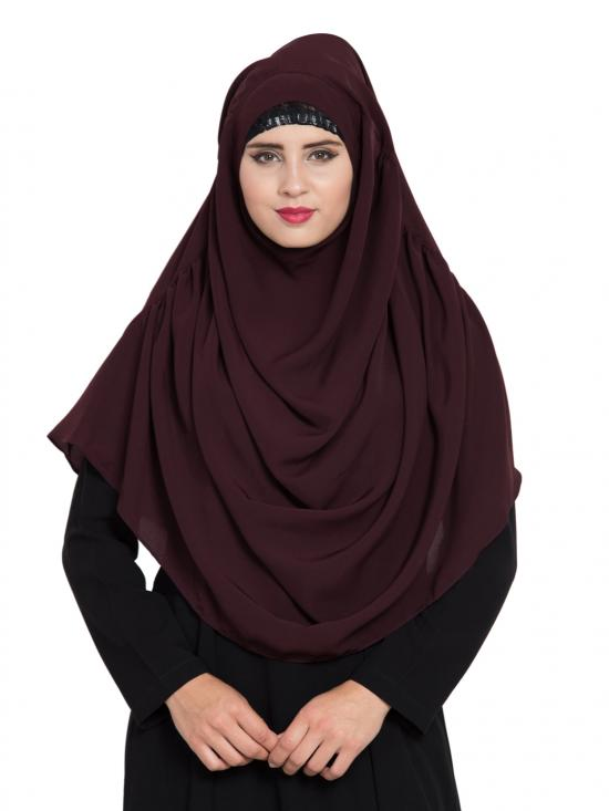 Khimar Nida Matte Ready To Wear Instant Hijabs In Wine