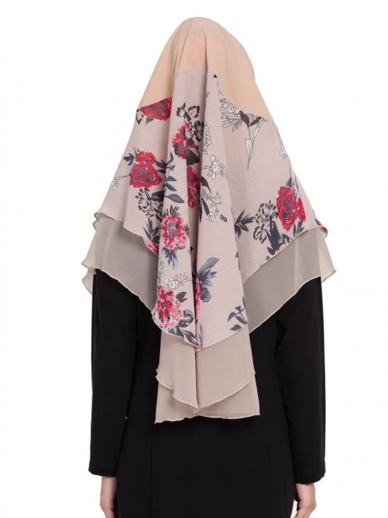 Khimar Nida Matte Ready To Wear Instant Hijabs In Light Beige
