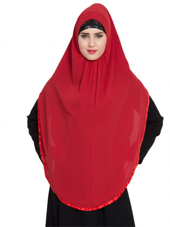 Khimar Nida Matte Ready To Wear Instant Hijabs In Red