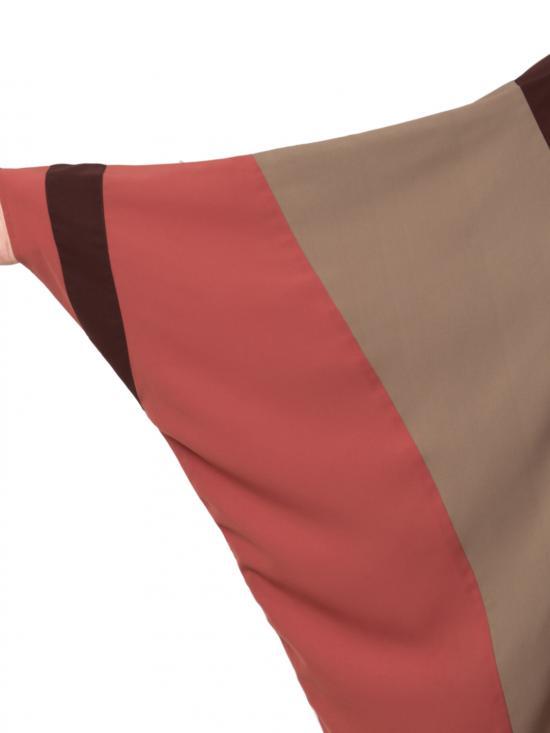 Nida Matte Front Open Designer Kaftan in Brown and Multi Colour