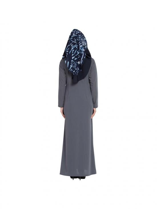 Khimar Georgette Ready To Wear Instant Hijabs In Navy Blue