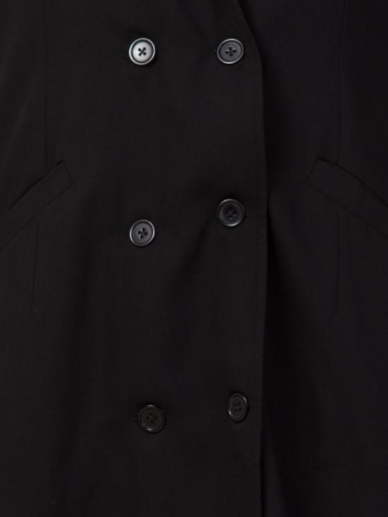 Poly Moss Double Breasted Coat for an Abaya in Black