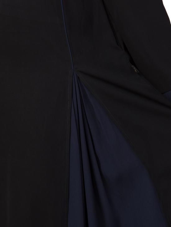Nida matte Flared Bottom Abaya In Black and Blue