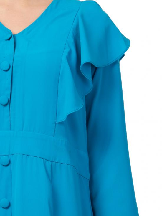 Nida Matte Modest Dress For Fashion Lovers In Turquoise