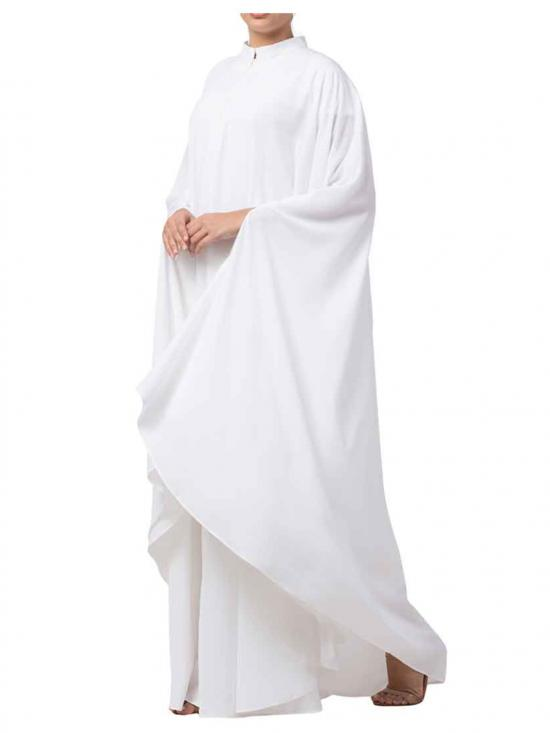 Nida Matte Plain Irani Kaftan In White