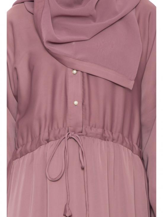 Nida Matte Bisma Abaya in Puce Pink