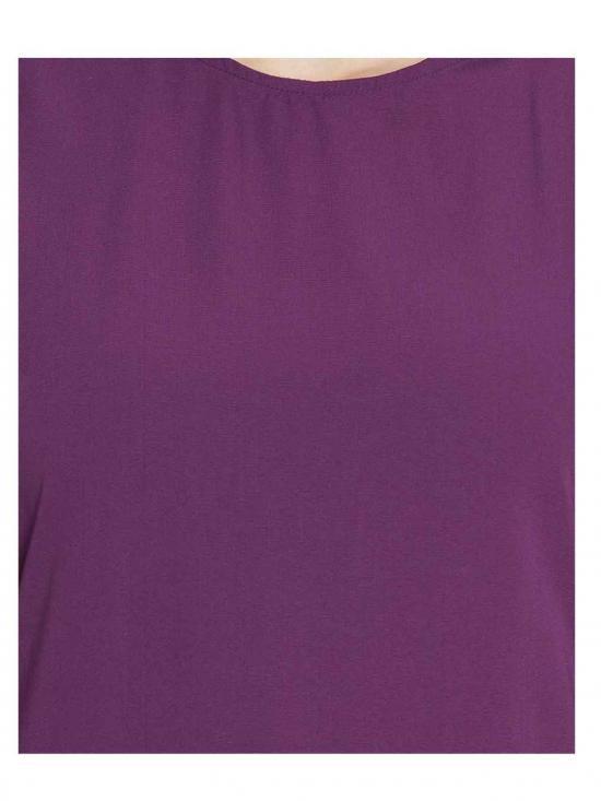 Nida Matte Bell Sleeves Abaya in Purple