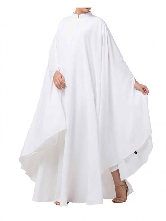 Cotton Rayon Plain Irani Kaftan In White