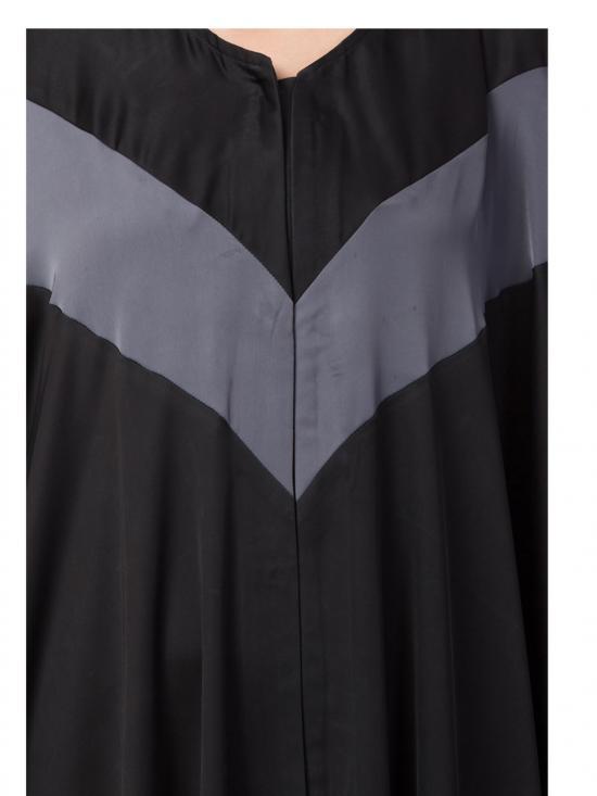 Nida Elegant Kaftan In Black And Grey