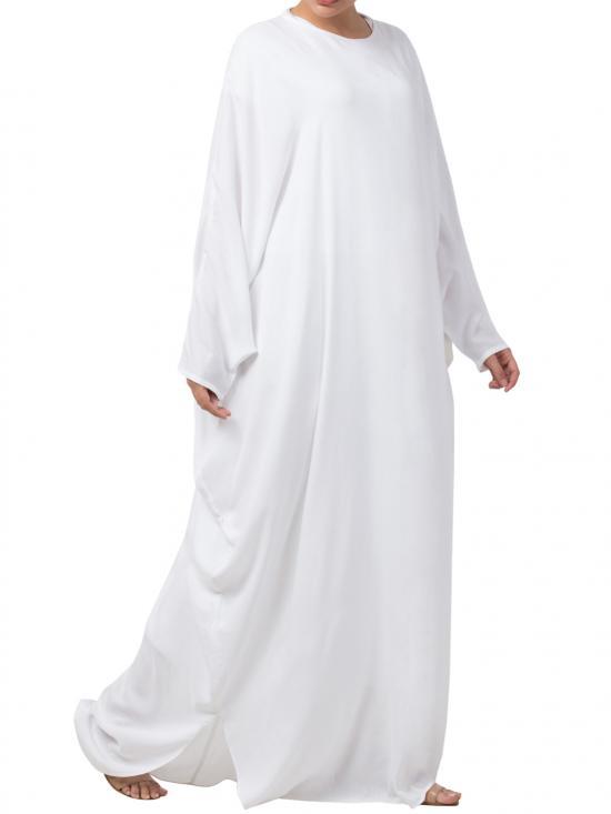 Nida Matte Stylish Kaftan In White