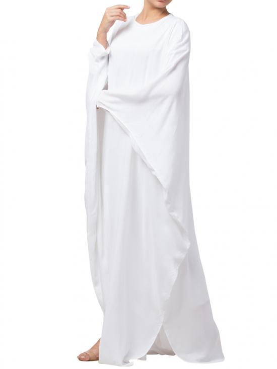 Rayon Cotton Stylish Kaftan In White