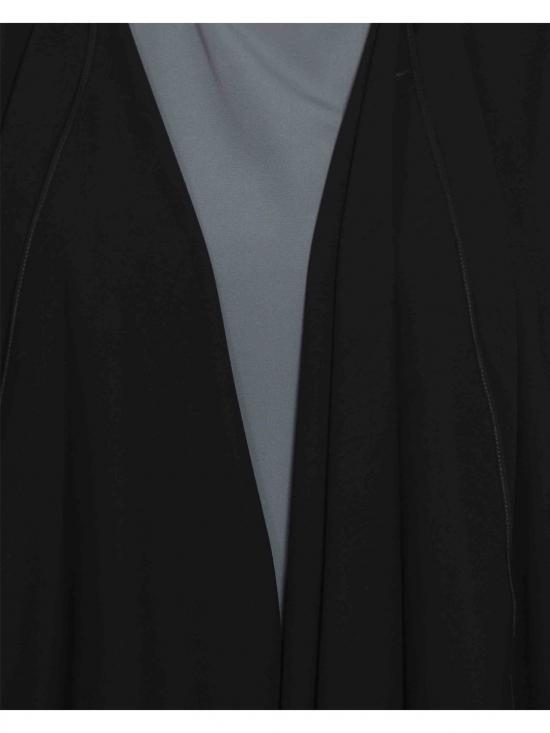 Nida Mate Abaya with Shrug in Black and Grey