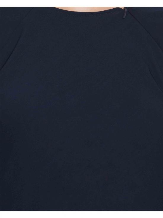 Nida Matte Umbrella Cut Abaya in Navy Blue