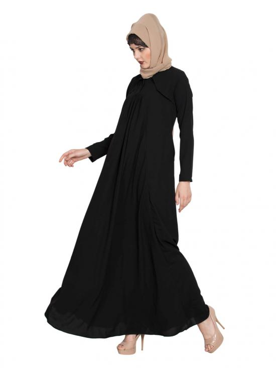 Nida Matte Simple Elegant Abaya in Black