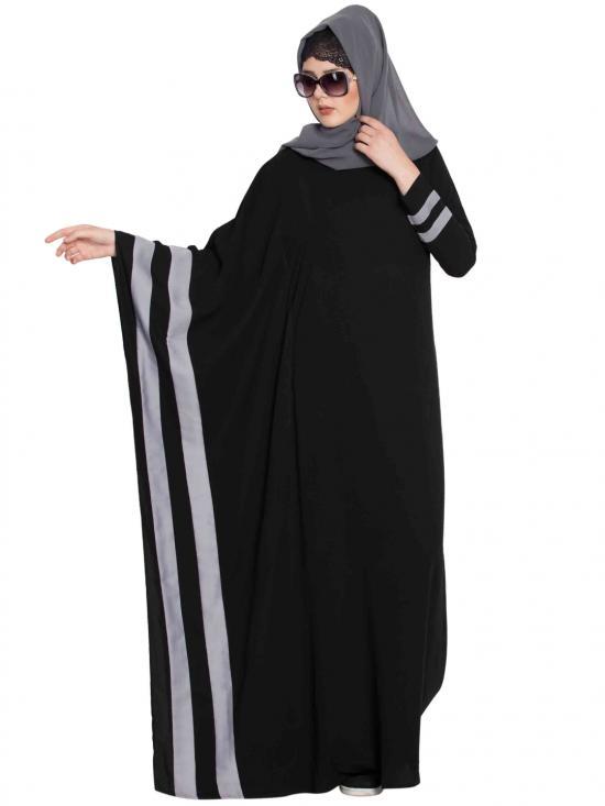 Nida Mate Faiqa Designer Kaftan In Black And Grey