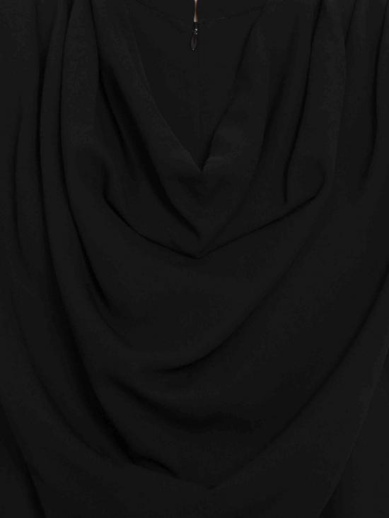 Nida Mate Modest Abaya with Attached Shawl in Black