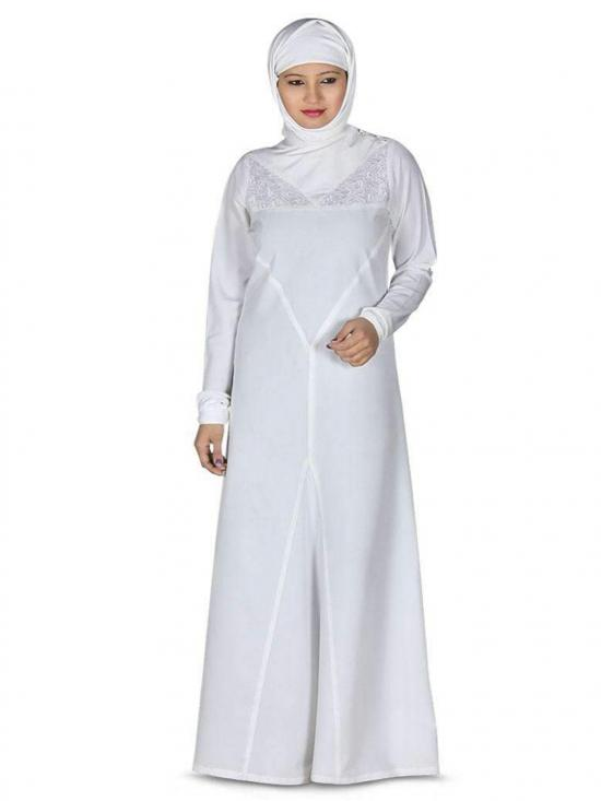 Kashibo Zeenat Abaya In White