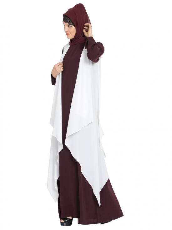 Nida Mate Aida Sleeveless Free Size Shrug in Off White