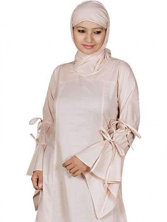 100% Cotton Zuhur Abaya In Peach