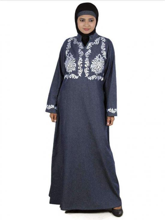 Denim Inayah Abaya In Blue