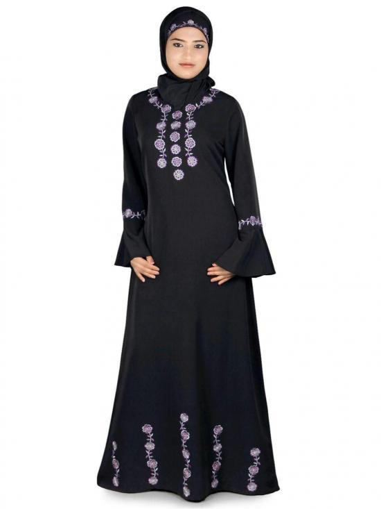 Nida Matte Salifah Abaya In Black