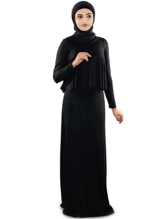 Viscose Daniya Jersey Abaya In Black
