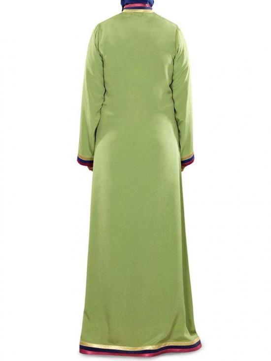 Crepe Alya Abaya In Parrot Green