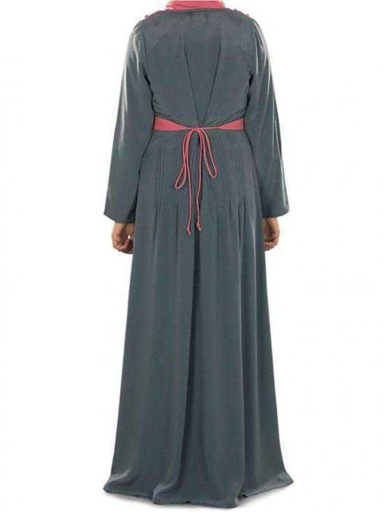 Nida Matte Ramsha Abaya In Black