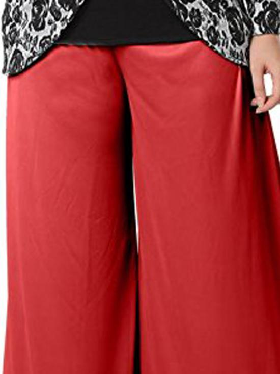 Palazo Pant In Red